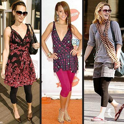 How to wear leggings in the summer
