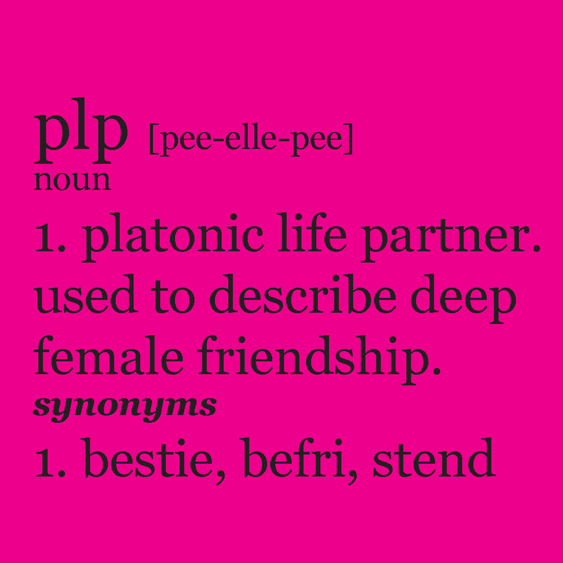 Platonic life partner